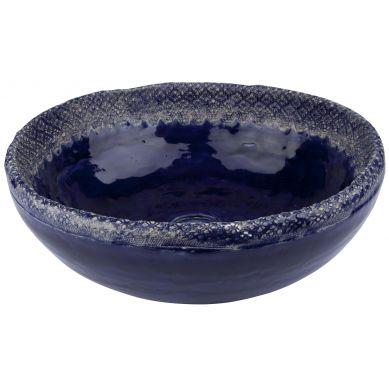 Kornelia - kobaltowa umywalka z koronką