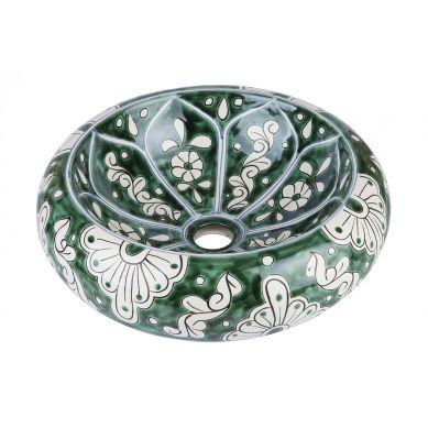 Baila - Zielona umywalka nablatowa