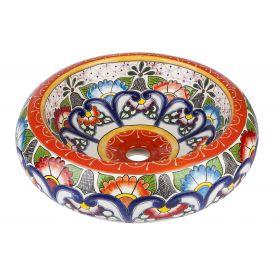 Victorina - Ceramiczna umywalka zdobiona z reliefem