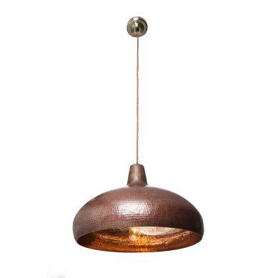Miedziana lampa wisząca - ręcznie kuta miedź