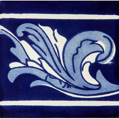 Asturia Cenefa - kobaltowe płytki ceramiczne 15 x 15 - 22 sztuki
