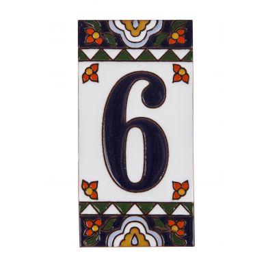Ręcznie malowany ceramiczny numer domu