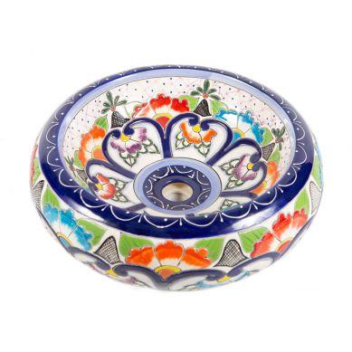 Victoria - ceramiczna umywalka zdobiona