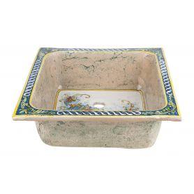 Terra - kwadratowy zlew ceramiczny z Włoch