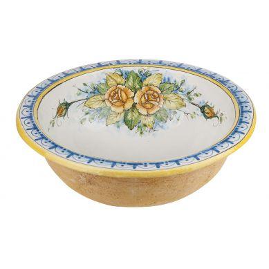 Mazzo di fiori - okrągła umywalka z Włoch