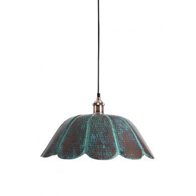 Uchuva - patynowana lampa z Meksyku - czysta miedź