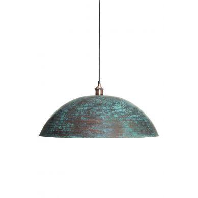 Sandia Verde XL - miedziana lampa z Meksyku pokryta patyną