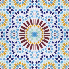 Baha - ceramiczne płytki marokańskie 20x20cm, 12 płytek w zestawie (0,5m2)