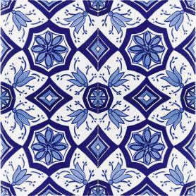 Aida - niebiesko-białe płytki ceramiczne 20x20cm, 12 płytek w zestawie (0,5m2)