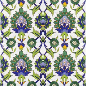 Bahira - ceramiczne płytki z odcieniem zieleni 20x20cm, 12 płytek w zestawie (0,5m2)