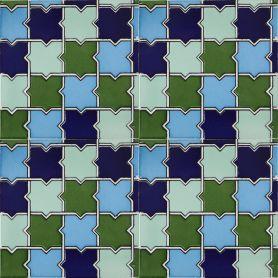 Basma - ceramiczne płytki ścienne 15x15 cm, 22 płytki w pudełku ( 0,5 m2 )