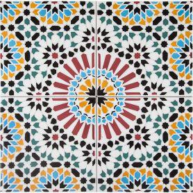 Hass - ceramiczne płytki marokańskie 20x20cm, 12 płytek w zestawie (0,5m2)