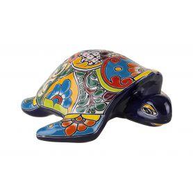 Granatowy ceramiczny żółw z Meksyku