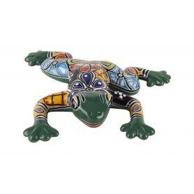 Ozdoba Talavera - zielona żaba