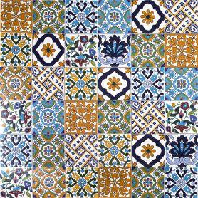 Wati - dekoracyjny patchwork z Tunezji 10 x 10 cm, 50 płytek w pudełku (0,5m2)