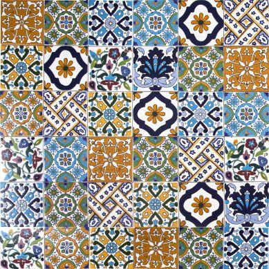 Wati - dekoracyjny patchwork z Tunezji 10 x 10 cm