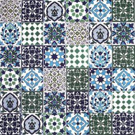 Muhit - dekoracyjny patchwork z Tunezji 10 x 10 cm, 50 płytek w pudełku (0,5m2)