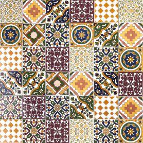Maraj - dekoracyjny patchwork tunezyjski 10 x 10 cm, 50 płytek w pudełku (0,5m2)