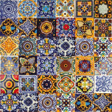 Colorido - wielobarwny meksykański patchwork - 30 sztuk