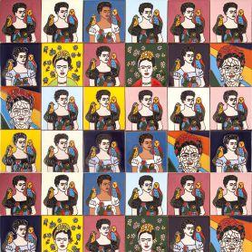Fridas - Zestaw 30 wzorów wielobarwnych płytek