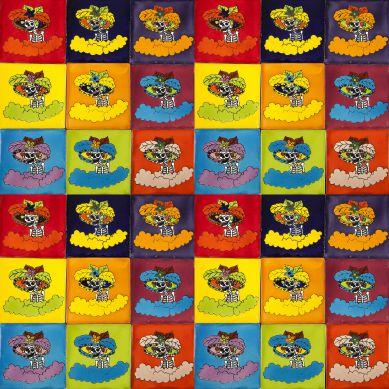 Catrinas - pop art płytki Talavera - 30 sztuk