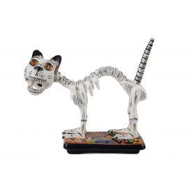 Gato y huesos - tradycyjna figurka kota z Meksyku