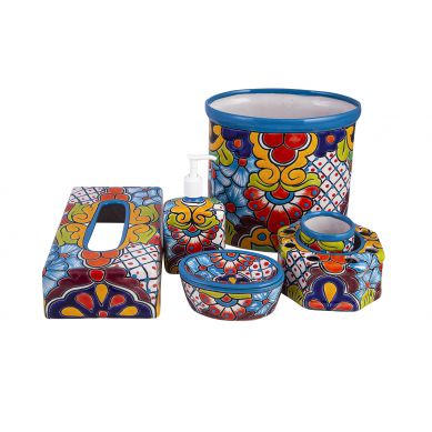 Agua - ceramiczny zestaw łazienkowy z Meksyku