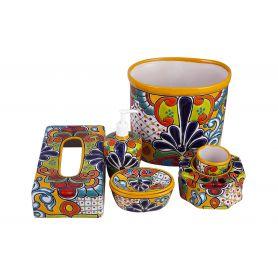 Viento - ceramiczny zestaw łazienkowy z Meksyku