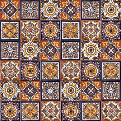 Gael - patchwork z płytek ceramicznych z reliefem - 30 sztuk