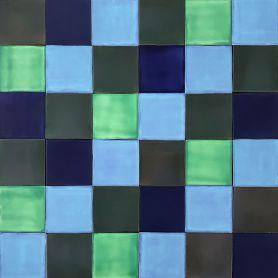 Malaquita - patchwork z płytek jednokolorowych - 90 szt, 1 m2
