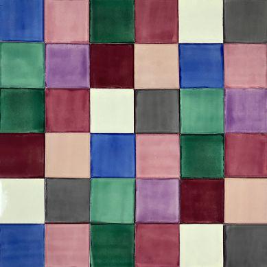 Ciruela - patchwork z płytek jednokolorowych - 90 szt. 1 m2