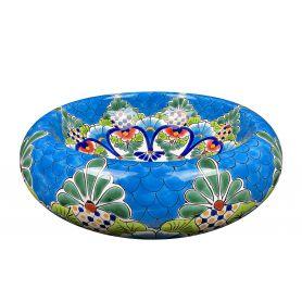 Serpiente - Umywalka ręcznie zdobiona z Meksyku