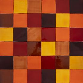 Caramelo - patchwork z płytek jednokolorowych - 90 szt, 1 m2