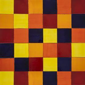 Intenso - patchwork z płytek jednokolorowych - 90 szt, 1 m2