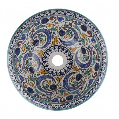 Hafi - ceramiczna umywalka z Maroka