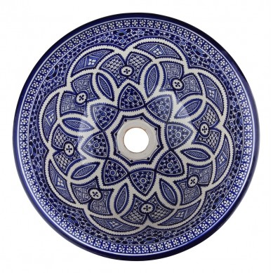 Fati - ręcznie malowana umywalka z Maroka