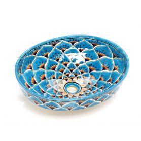 Brisa - ręcznie zdobiona umywalka nablatowa