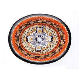 Ynes - ceramiczna umywalka zdobiona