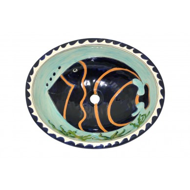 Pesca - Umywalka Owalna z Meksyku