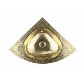 Mubarak - trójkątna umywalka miedziana z Maroka