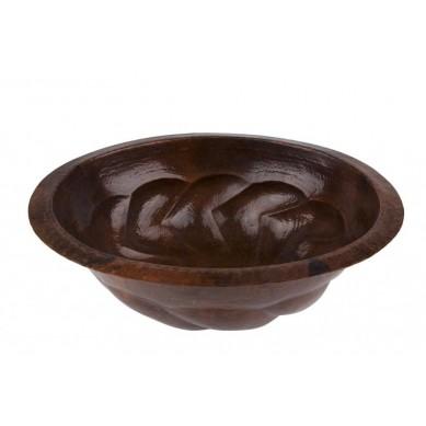 Eloisa - owalna umywalka meksykańska z miedzi