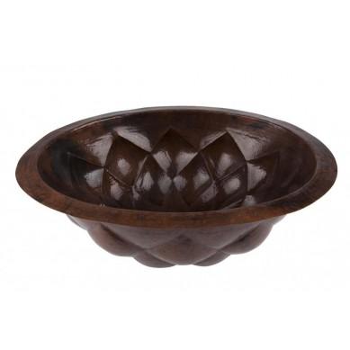 Feliciana - miedziana owalna umywalka meksykańska