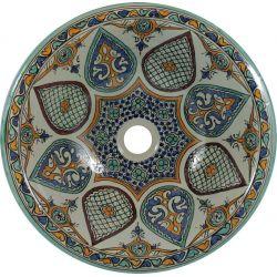 Leila - Kolorowa umywalka ceramiczna z Maroka