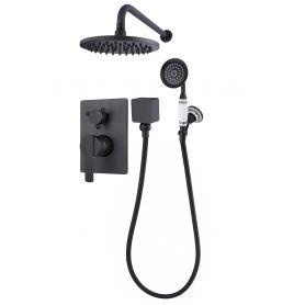 Estrella Black - czarna bateria podtynkowa