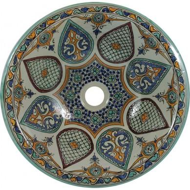 Leilana - Kolorowa umywalka ceramiczna z Maroka
