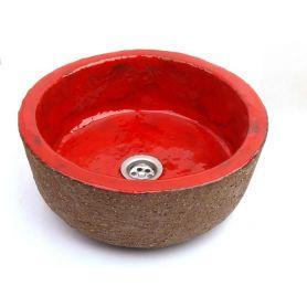 Ida - czerwona stylowa umywalka