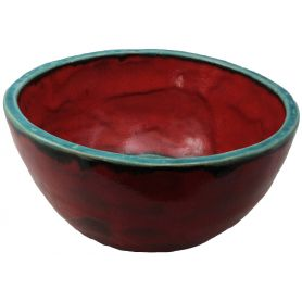 Nela - Czerwono-turkusowa stylowa umywalka