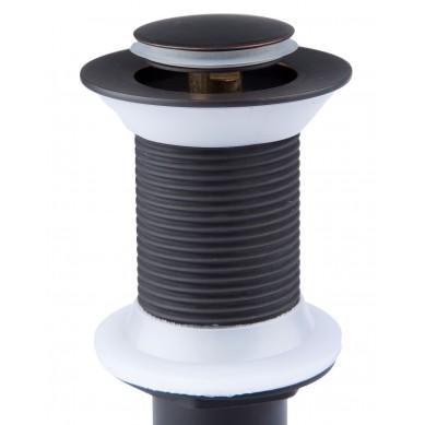 Hugo - Czarny odpływ umywalkowy klik-klak bez przelewu