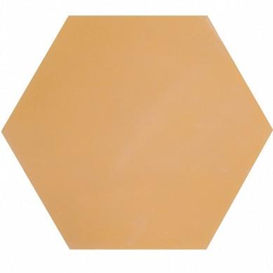 Heksagonalne płytki jednobarwne - piaskowe