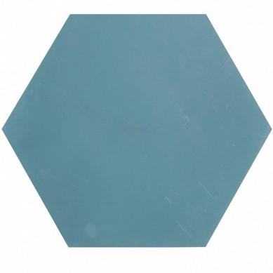 Heksagonalne płytki jednobarwne - niebieskie